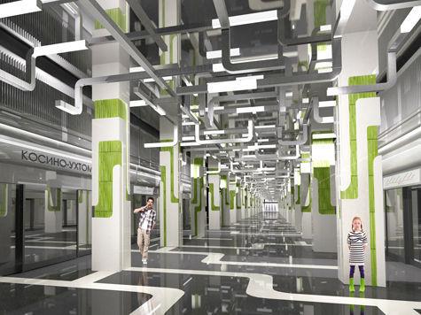 Новая линия метро Москвы получит эксклюзивный дизайн: потолки и стены украсят модерновыми конструкциями в виде торов...