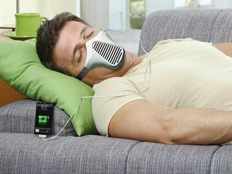 Придумана маска для зарядки мобильника