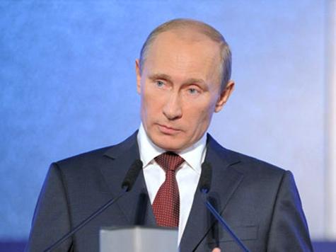 Путин окрестил корабль