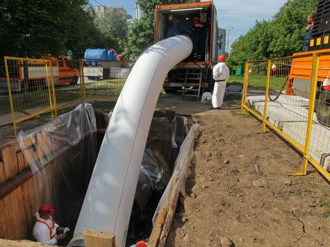 В Москве - реконструкция стратегического газопровода