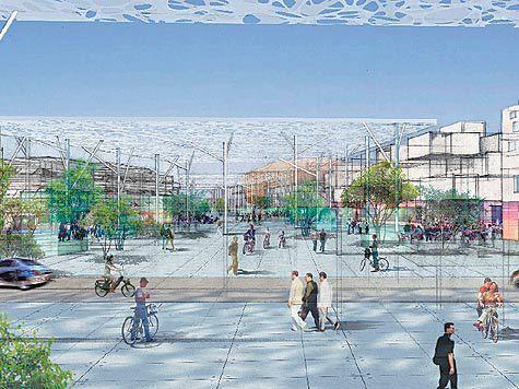 Куда бежит локомотив отечественной науки? Идиллическая картинка из будущего, где главными являются пешеходы и велосипедисты DETAIL_PICTURE_589423