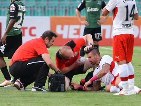 Игрок «Амкара» потерял сознание во время матча против «Краснодара»
