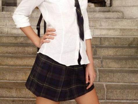 Мини юбки в школе
