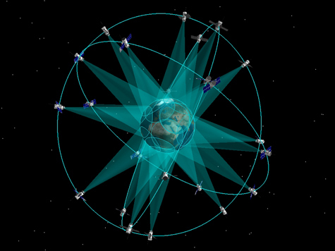 Так выглядит Земля в окружении  группировки ГЛОНАСС.