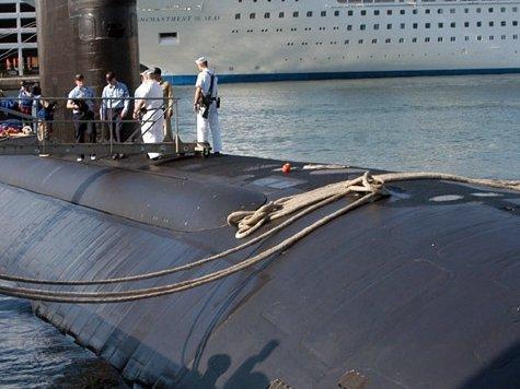 Ядерная лодка загорелась в штате Мэн