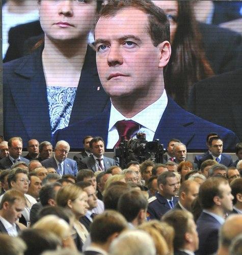 Медведева избрали председателем «Единой России» единогласно
