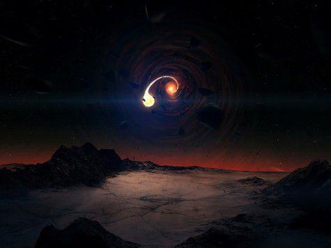 Наши прапредки еще застали в ночном небе свет черной дыры
