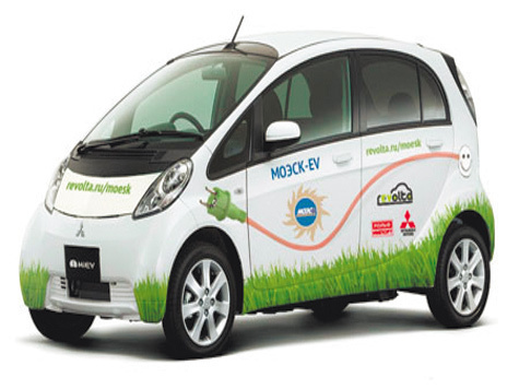 Первые электромобили испытают пробками