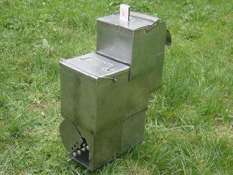Придумана компактная переносная печка, в которой еда готовится чисто по-русски