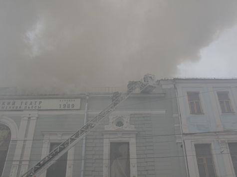 Пожар в театре «Школа современной пьесы» произошел за 15 минут до спектакля