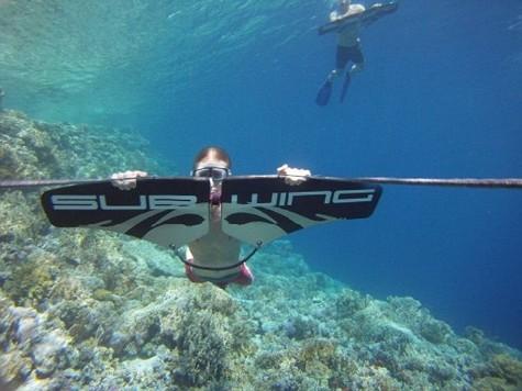 Норвежец Сиверстен изобрел крылья для плавания под водой