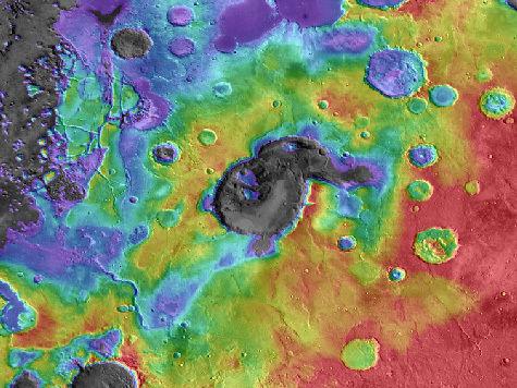 На Марсе впервые обнаружен вулкан