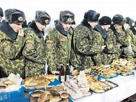 В армии России теперь будут накрывать шведский стол.  Опыт Запада.