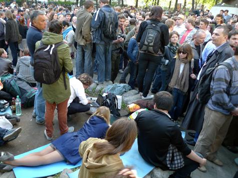 В Москве помитинговало уже почти полмиллиона человека