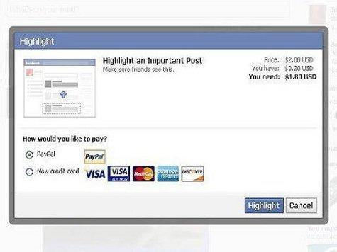 Facebook готовится к переходу на платные посты