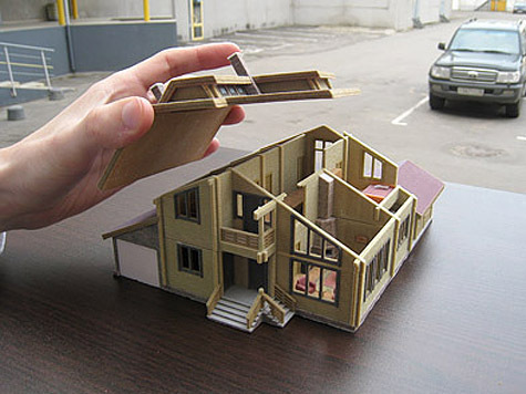 Макет дома архитектора