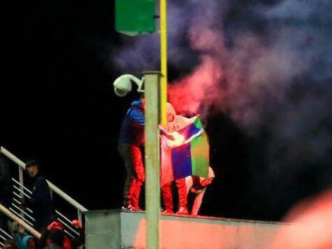 Задержаны лица, которые сожгли флаг Дагестана на матче «Кубань» – «Анжи»