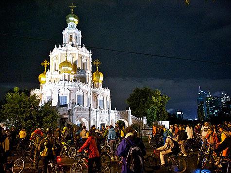 В столице прошла VII московская велоночь