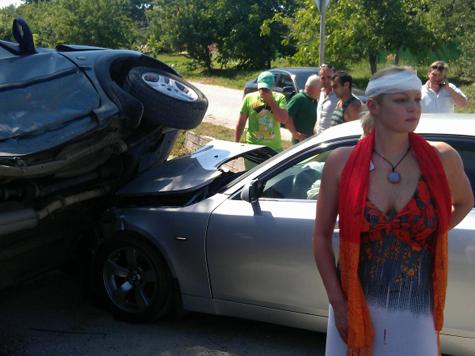 Анастасию Волочкову ударили по лбу