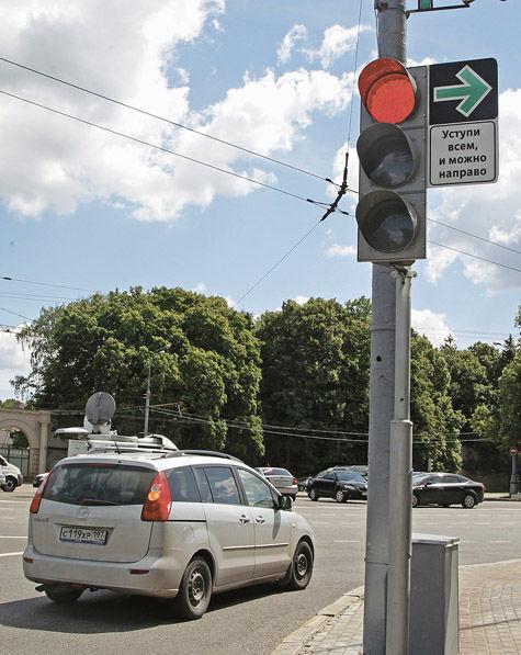 проезд на красный свет светофора в германии