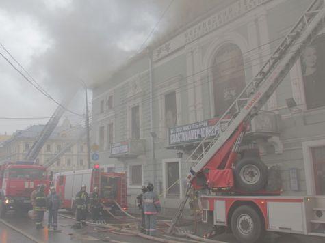 После пожара в театре «Школа современной пьесы» обрушились перекрытия