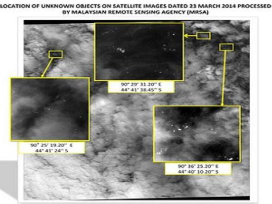 В Индийском океане обнаружены 122 обломка, предположительно, малайзийского Боинга