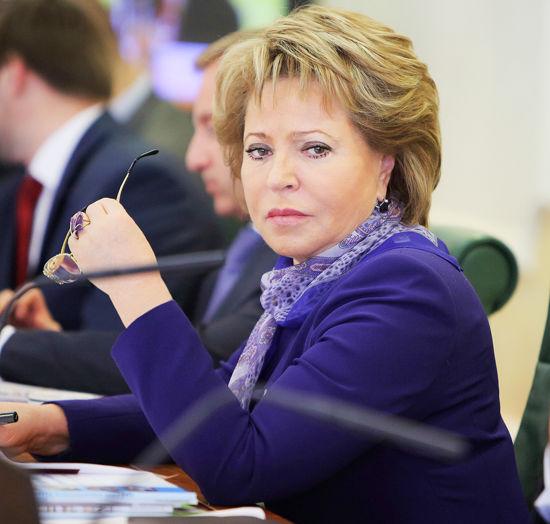 Валентина Матвиенко призывает США и ЕС спасти Украину