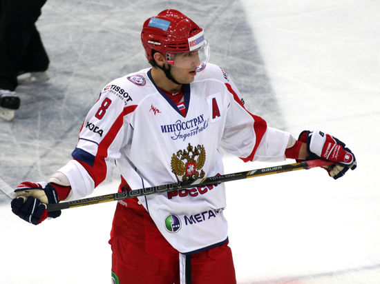 Овечкин провел первую тренировку в составе сборной России