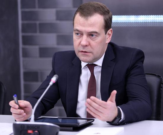 Медведев высадился в Крыму