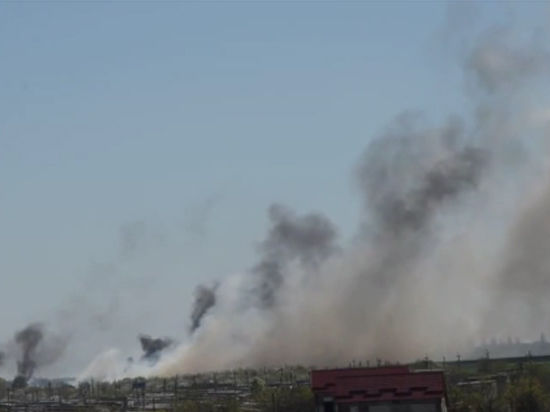 Ополченцы в Краматорске взорвали военный вертолет из РПГ