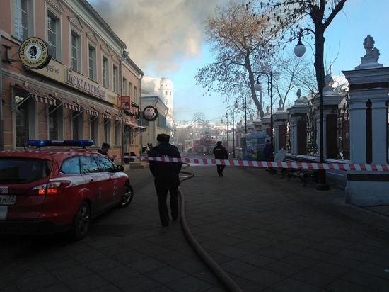 Пожар в кафе на Пятницкой потушен