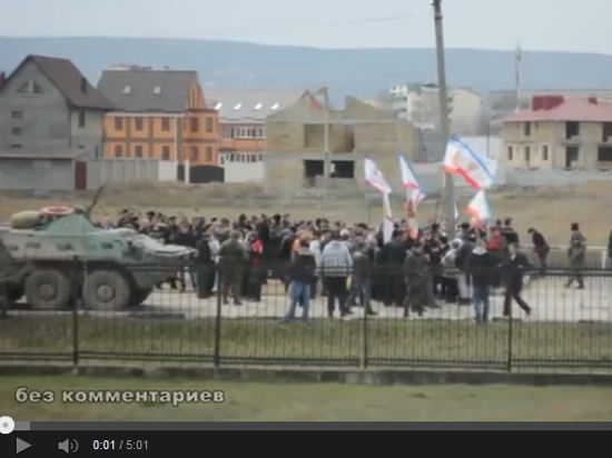 Базу украинских морпехов в Феодосии взяли штурмом