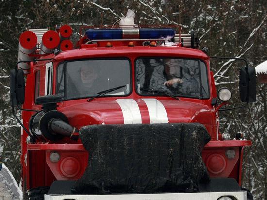 Крупный пожар произошел в Москве