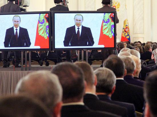 Приглашенных на послание президента накормили черной икрой и олениной