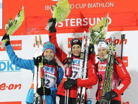 Первая медаль сборной России по биатлону!