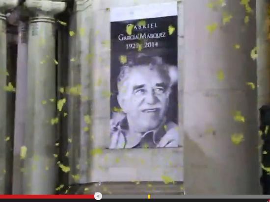 Маркеса проводили в последний путь желтыми бумажными бабочками