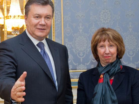 Вице-президент Еврокомиссии Кэтрин Эштон: президент Украины по-прежнему намерен подписать соглашение с ЕС