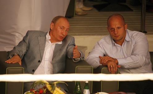 Путин побывал на международном турнире по боям без правил