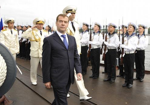 В День Военно-Морского Флота Президент посетил Балтийск