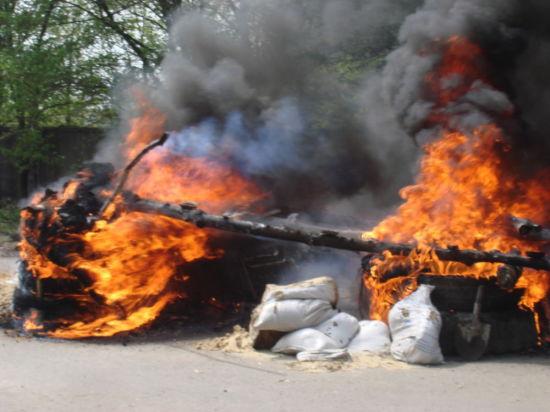 Война в Славянске: ночная атака и взрывы