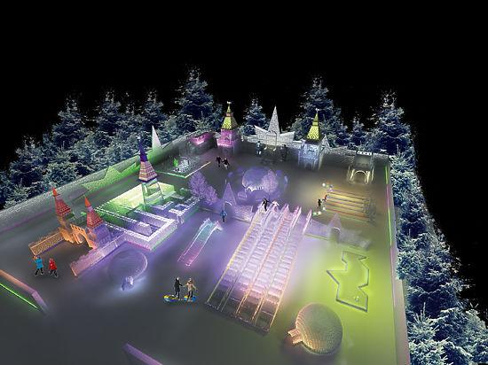 Так будет выглядеть ледяной городок парка «Сокольники». Фото: проект лед парк Сокольники