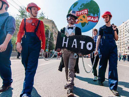 Труд и оркестр на Красном Первомае: КПРФ провела торжественную демонстрацию