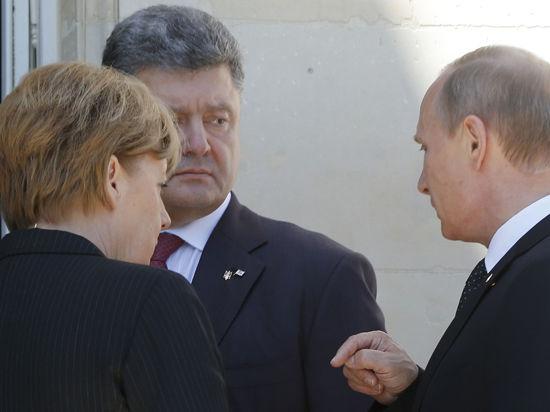 Путин пообщался с Порошенко в Нормандии