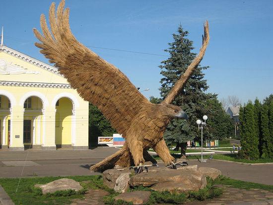 Бездомный пес чуть не погиб в объятиях орла, символизирующего город Орел