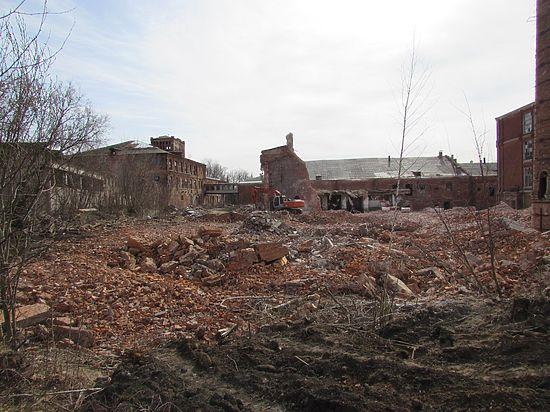 Начался снос ситценабивной фабрики Коншиных в Серпухове